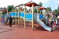 Открытие 02.09.2017г. детской площадки в с. Уборы