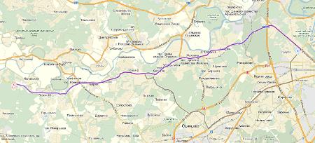 Маршрут 121 автобуса москва на карте
